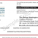 Sample of GW tuition statement payment coupon