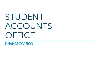 Brand graphic for the Student Accounts Office