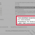 Image highlighting GW's Mailing Address for payments